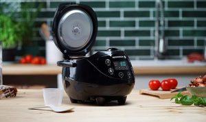 Digitaler Reishunger Mini Reiskocher (0,6l/350W/220V) Multikocher mit 8 Programmen