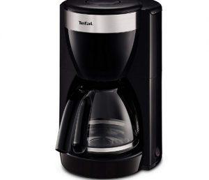 Tefal CM1808 Deflini Plus Glas-Kaffeemaschine mit Edelstahlelementen